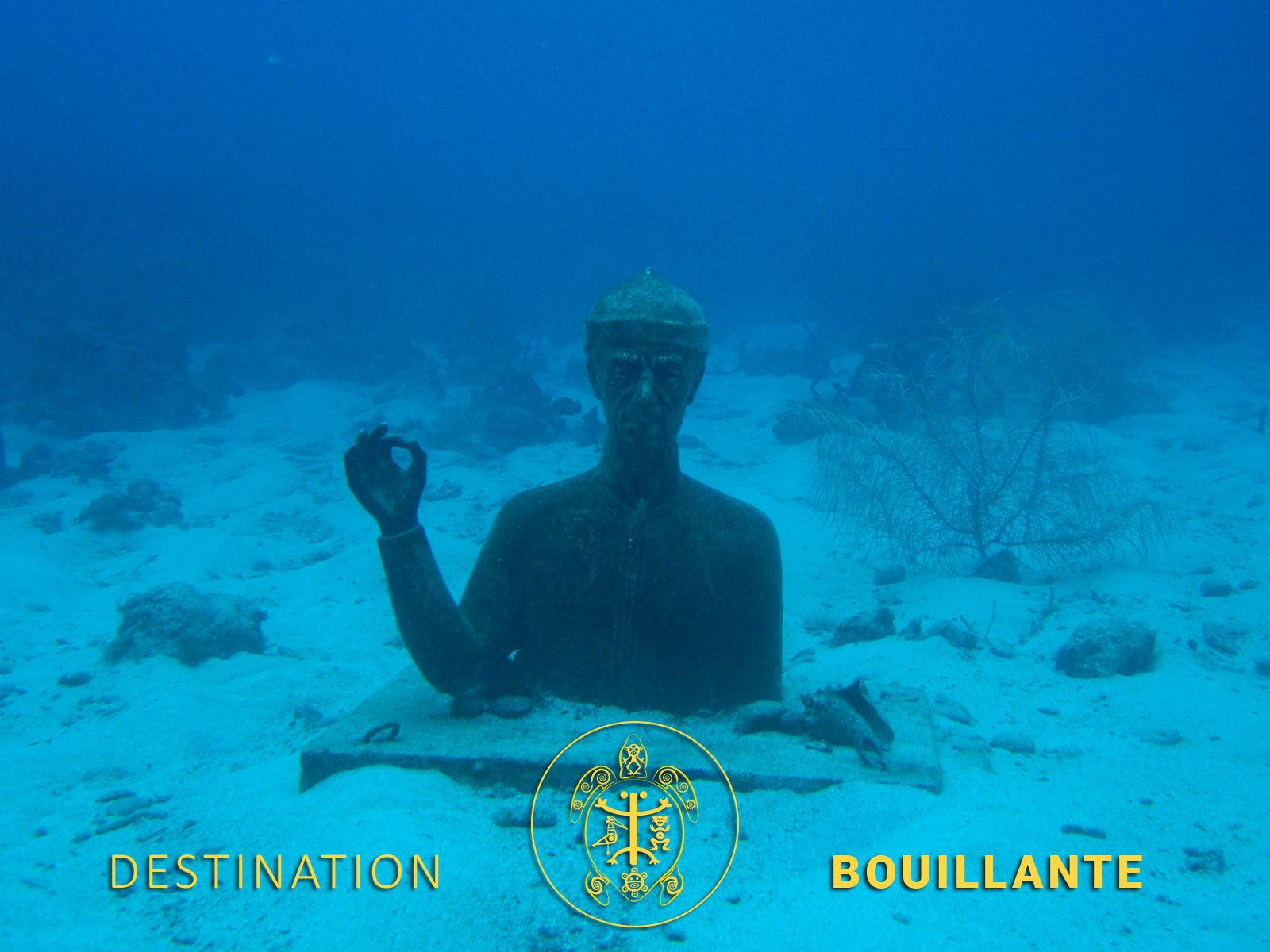 Buste du commandant Cousteau - Bouillante