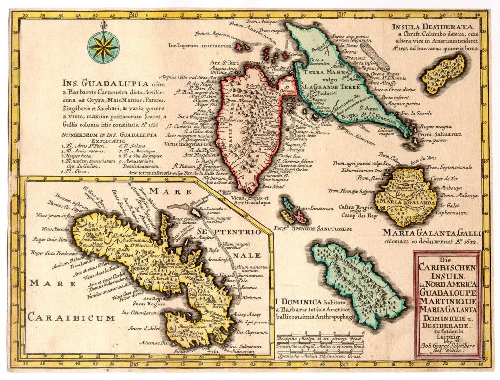 Carte Antilles XVIe