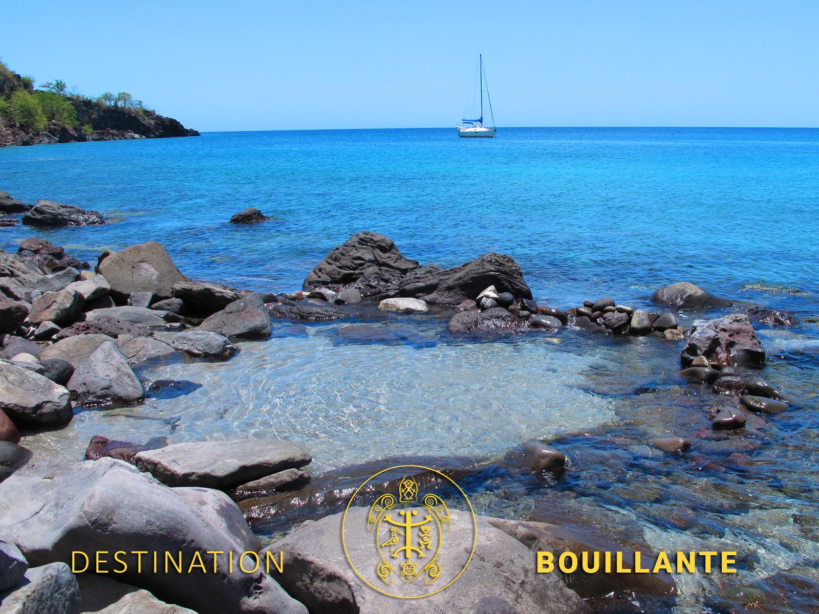 Source chaude de Petite-Anse à Bouillante
