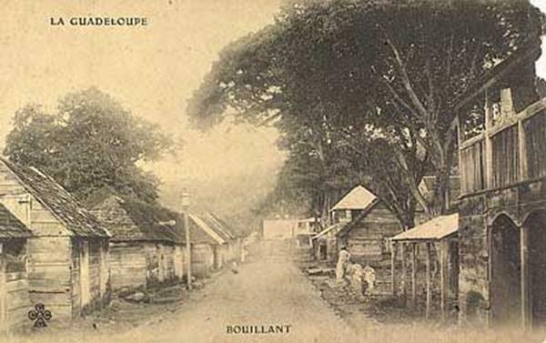 Le bourg de Bouillante avant la modernisation