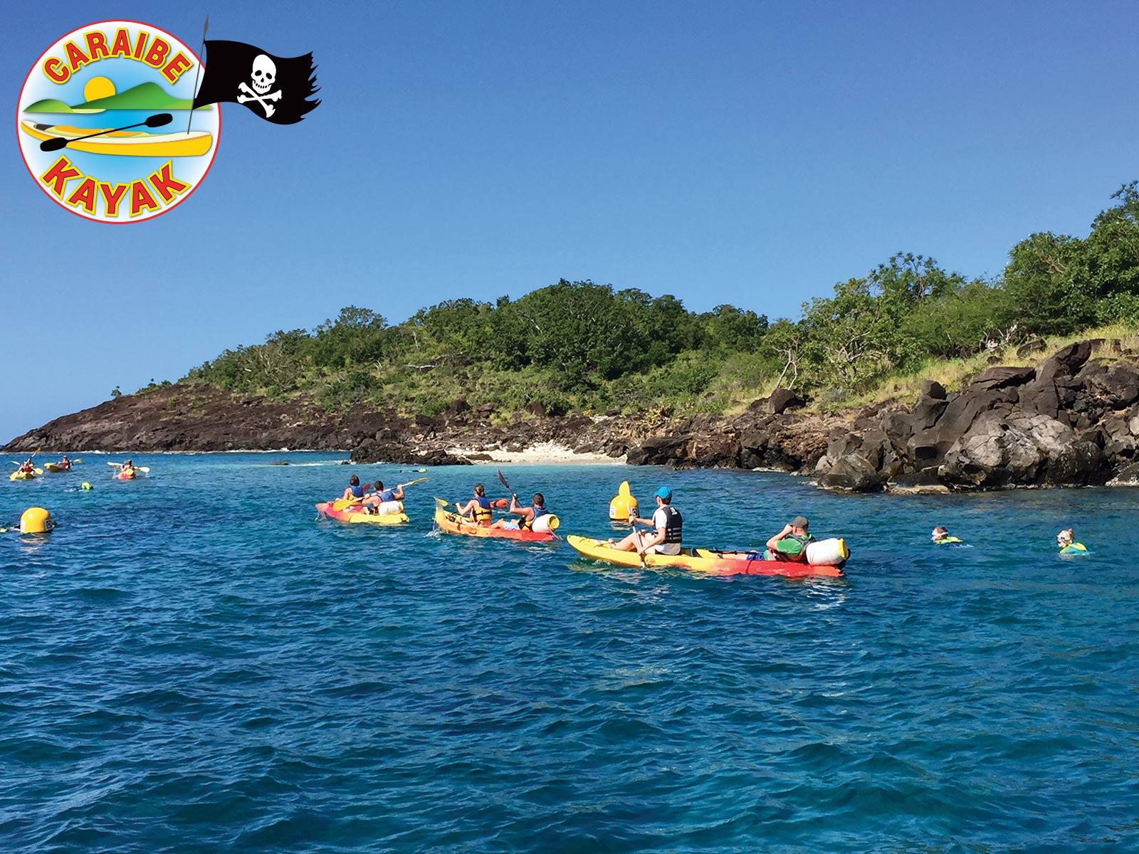 Caraïbe Kayak - kayak libre aux Ilets Pigeon