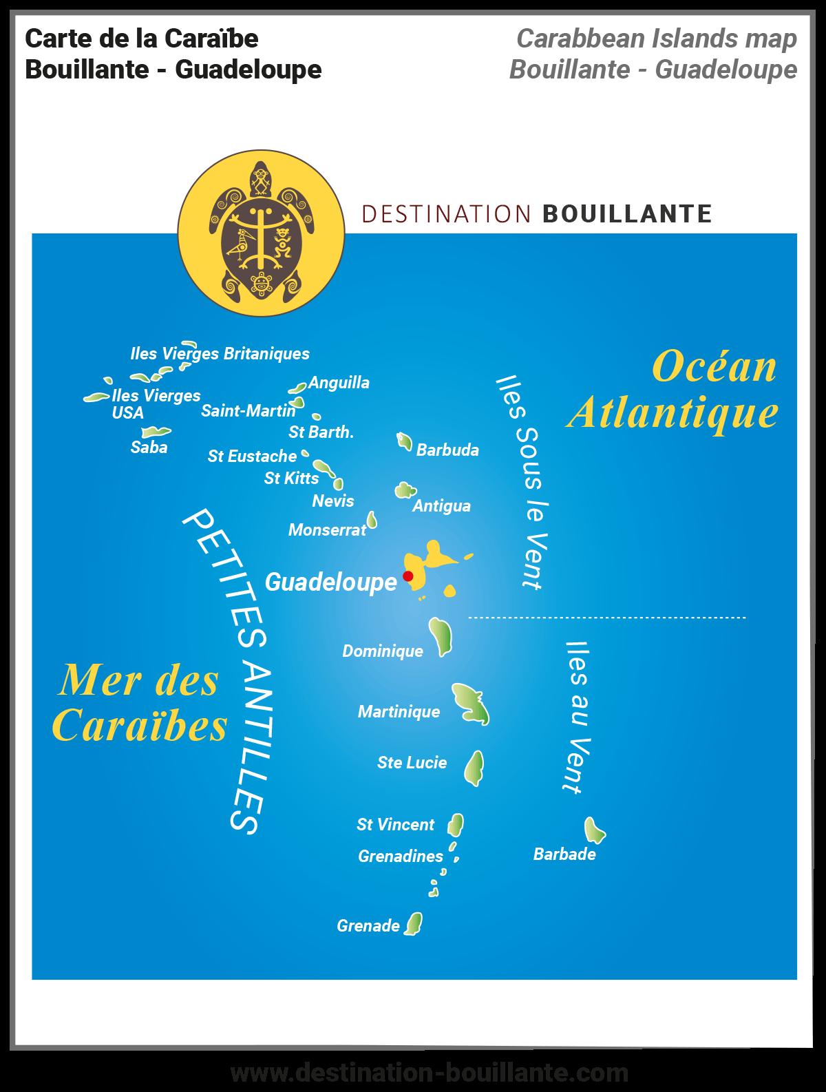 Carte des Petites-Antilles