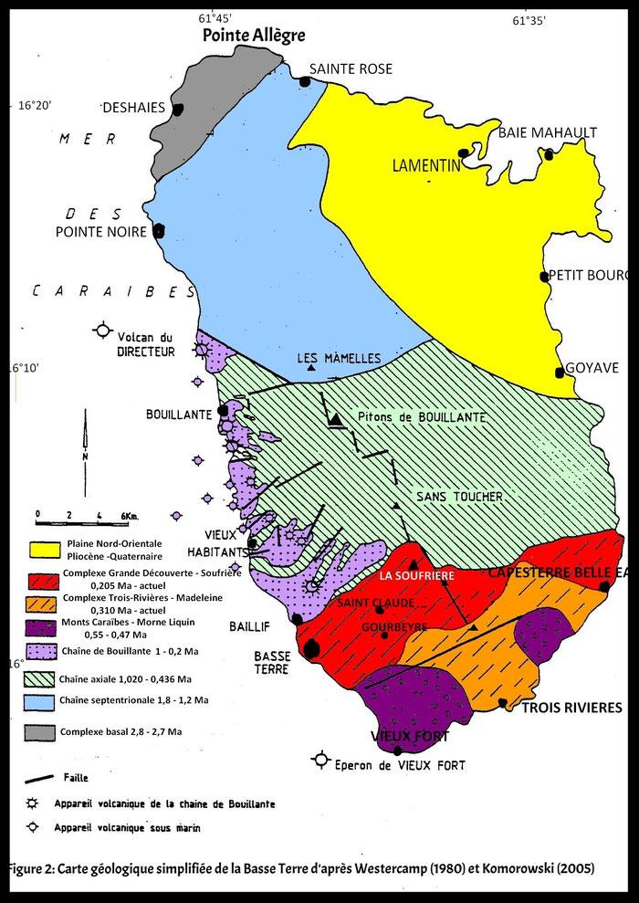 Les formations volcanique de la Basse-Terre de Guadeloupe