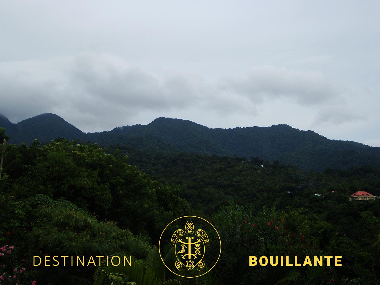 Piton Bouillante - ancien volcan de Bouillante