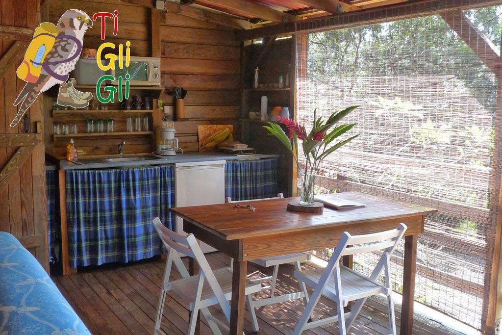 Ti Gligli - Terrasse de bungalow