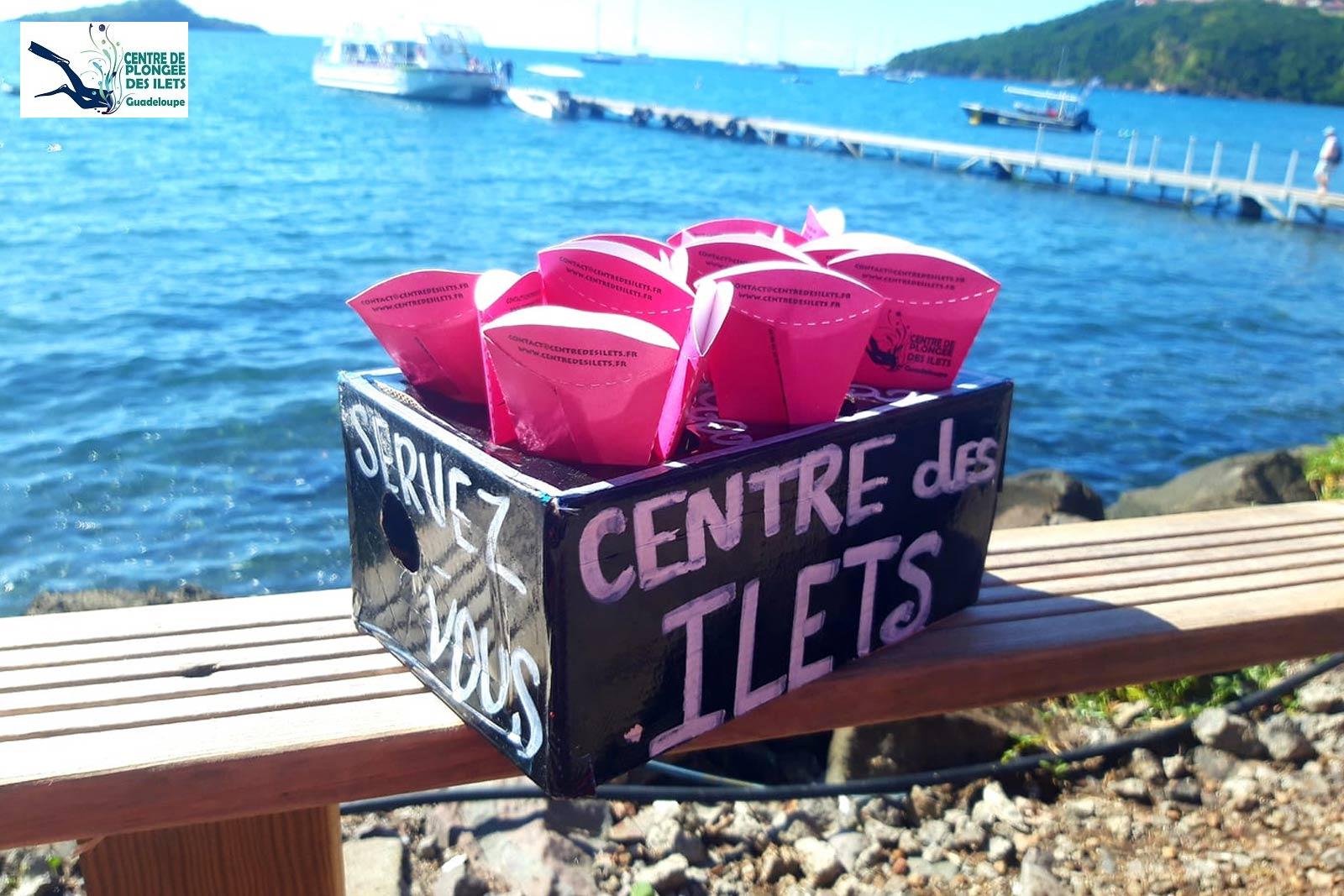 Centre de plongée des Ilets - Cendriers de plage