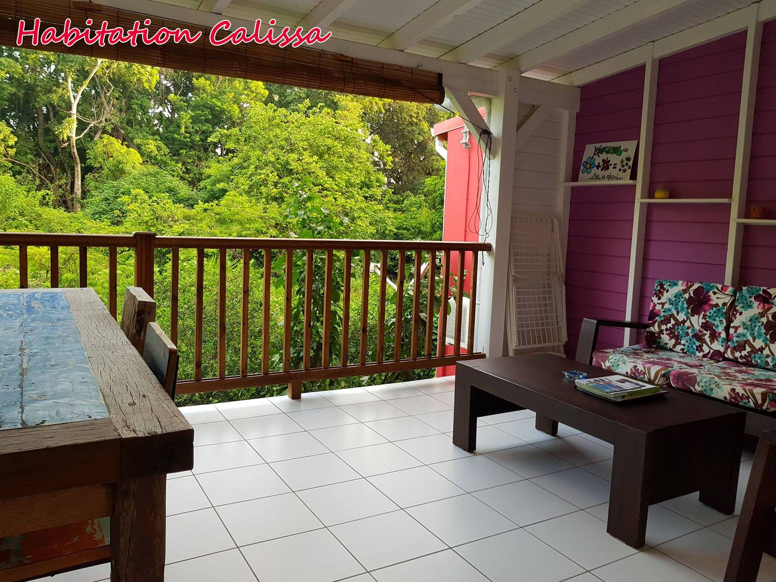 Habitation Calissa - Salon sur jardin