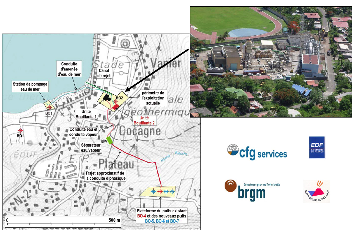Plan de la centrale de Bouillante