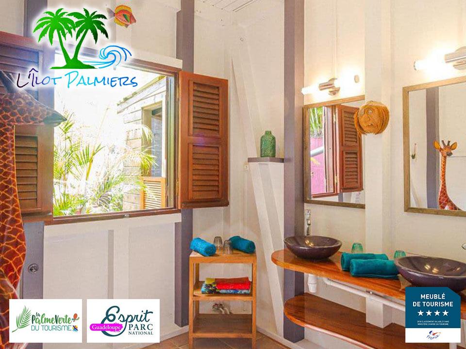 Gîte L'Ilot Palmiers - Salle de bain