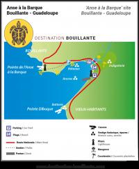 Télécharger le plan du site naturel d'Anse à la Barque