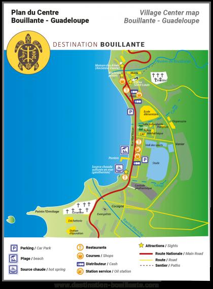 Télécharger le plan du bourg de Bouillante